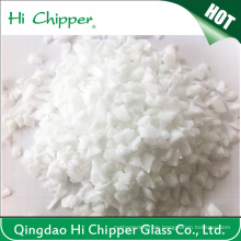 Dekoration Crushed White Glass Chips