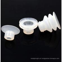 Ventosa de borracha industrial transparente pequena personalizada