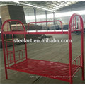 Металлический материал красный цвет дети двойной палубе дизайн кровать