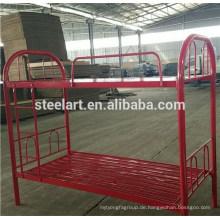 Metallmaterial Rote Farbe Kinder Doppelstockbett Design