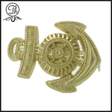 3D Gold Anchor badge pin metalli