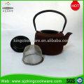 Chinesische Gusseisenteekanne / Metallteetopf