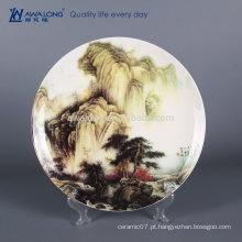 12 polegadas nome personalizado fino osso china porcelana pintada à mão decorativas pratos de parede