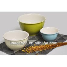 KC-0415 grandes tazones de sopa, tazones de cerámica de color sólido, tazón de arroz