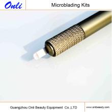 Mais novo manual de aço inoxidável microblading Pen Handwriting Excêntrico