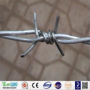 Fil de fer barbelé en PVC galvanisé à chaud