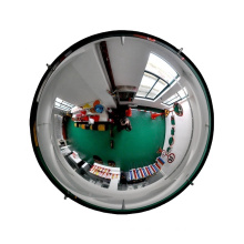 360 degree view acrylic safety convex full dome mirror