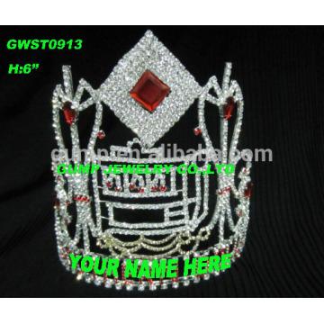 Tiara et couronne personnalisés colorés élevés avec un logo