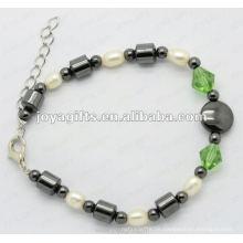 Mode Leder und Perle Wrap Armbänder