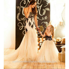 Alibaba Custom made Latest Children A Line Long Beauty Pageant Birthday Lace A Line Flower Girl Dresses LF46
