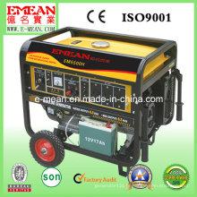 Gerador de partida elétrico portátil da fase 6kw monofásica Em5500he