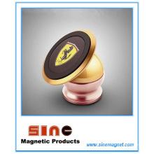 Soporte magnético metálico para teléfono para iPhone, soporte para automóvil