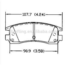 D698 12510016 pour BUICK Acura CADILLAC CHEVROLET DODGE MITSUBISHI PONTIAC Plaquette de frein Icer