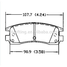 D698 12510016 for BUICK Acura CADILLAC CHEVROLET DODGE MITSUBISHI PONTIAC Icer brake pad