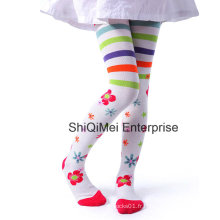 Nouveau mode filles Jacquard coton Pantyhose collants