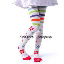 Meia-calça meia-calça de algodão mais recente moda do Jacquard Girls