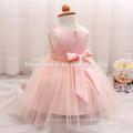 2017 baby mädchen party kleid kinder kleider designs weiß / rosa / gelb niedlich mbroidered pailletten kleid kinder für die taufe