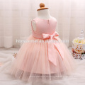 Vestido de fiesta del bebé 2017 vestidos de los niños diseños blanco / rosa / amarillo lentejuelas mbroidered lindo vestido de niños para el bautismo