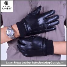 China atacado de alta qualidade moda Mens Couro Luvas