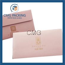 Enveloppe en papier rose pour bijoux d'emballage (CMG-ENV-013)