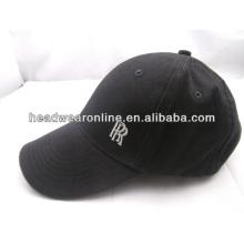 Casquillo negro de encargo del algodón de la bola / con alta calidad
