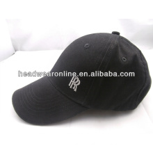 custom black ball cotton cap/with high quality