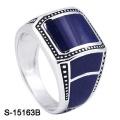 Novo modelo 925 anel de prata esterlina com esmalte
