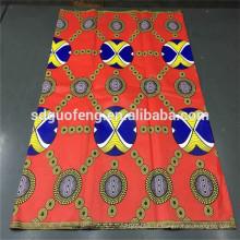 Venda quente de alta qualidade de algodão estampado cera de tecido africano