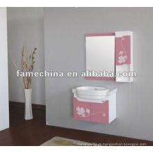 2013 hot sale pink flower printed pvc bathroom cabinet