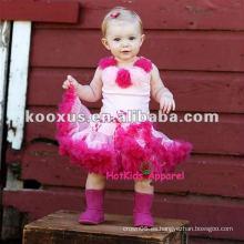 Tutus del color de rosa caliente / capa del petti / vestido de partido / pettiskirts / falda / tutus del bebé