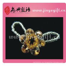 Venta al por mayor Yellow Flower Crystal Jewelry Bijoux Ring