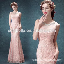 See Through Sweetheart Pink Mermaid Evening Dress and Ladies Party Dress