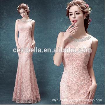 Ver a través de Sweetheart Pink vestido de noche de sirena y vestido de fiesta de señoras
