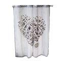white window fabric curtain