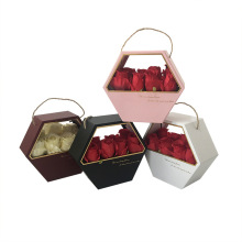 Caja de embalaje de flores portátil redonda