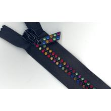 Zipper del diamante de la manera abierto o final cerrado, color de encargo (# 8)