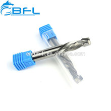 BFL 2 ranuras CNC Router Bits para madera, cortadores de compresión para madera