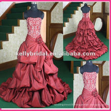 burgundy wedding dress welcome customized design