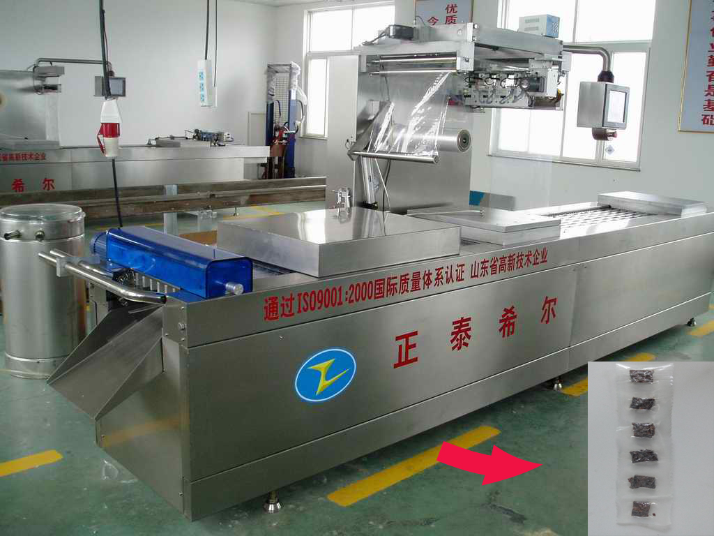 Computure control plastic film molding vacuum packaging machine