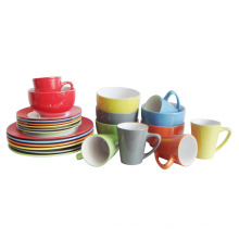 16PCS 20PCS en céramique en grès couleur unie ensemble de dîner glacé (6160012)