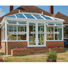 profil de PVC fenêtre de balcon en verre sans cadre de gros portes et fenêtres