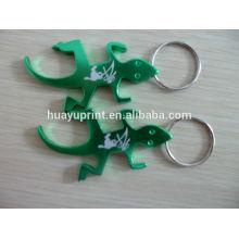 Kundenspezifisches Logo Laser gravierte Aluminiumflasche offene Schlüsselkette
