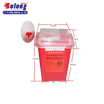 Solong Professional 1L Tattoo Container hot selling plastic tattoo Sharp Container