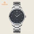 Montre en cristal imperméable de montre de sport des hommes avec la bande 72357 d'acier inoxydable