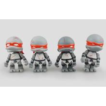 Grau Kundenspezifische Teenage Action Figur Mutant PVC Ninja Schildkröten Spielzeug