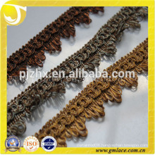 China Manufacturer offer Custom short tassel fringe trim in stock