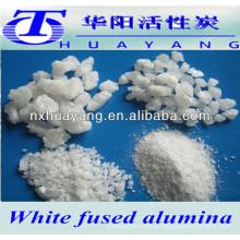 99.5% AL2O3 abrasivo y alúmina fundida blanca refractaria