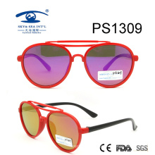 Vintage Fashion Colorful Kid Plastic Sunglasses (PS1309)