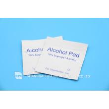 Almohadilla de alcohol medicinal desechable