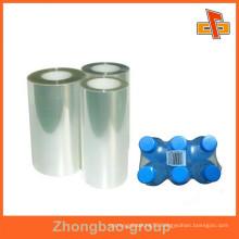 Manufacturers Enviromental protection heat pe shrink film for a shelf bottle/napkin/sports equipment packaging